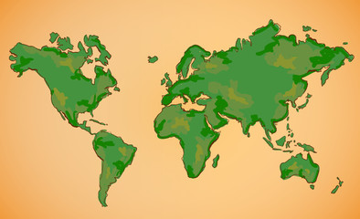 World Map Vector Painting