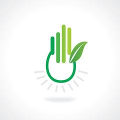 save green energy concept vector