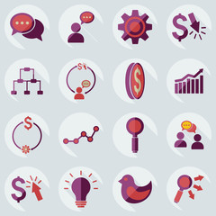 Flat modern design with shadow icons business icon
