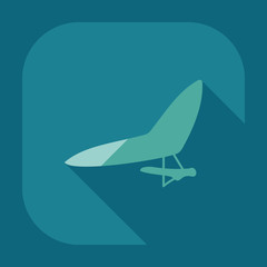 Flat modern design with shadow icon hang-glider