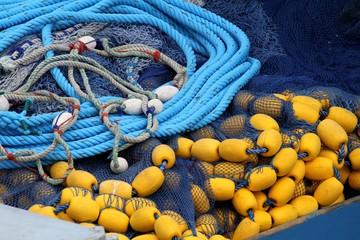 filet de pêche à la sardine, bolinche