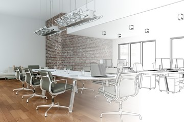Entwurf Großraumbüro