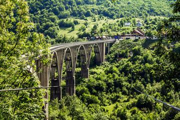 the bridge of Dzhurdzhevich over the river Tara. Montenegro