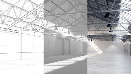 Entwurf und Planung einer Lagerhalle