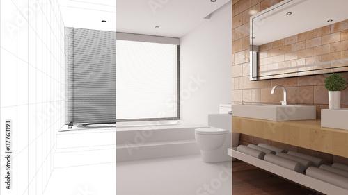 Planung und entwurf von badezimmer stockfotos und for Planung badezimmer