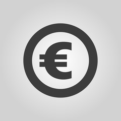 The euro icon. Cash and money, wealth, payment symbol. Flat