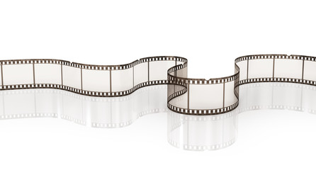 Film strip on the white background.