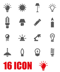 Vector grey light icon set