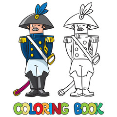 General or officer. Coloring book