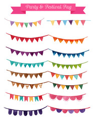 ribbon watercolor Banners. Collection of white Isolated vector