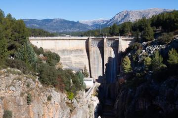 Papiers peints Barrage Dam at Guadalentin river. Andalusia