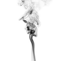 Movement of smoke on black background.