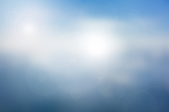 Abstract sky blue blurred background