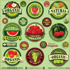 Vintage farm fresh label design set