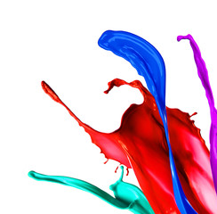 Paint splashes isolated on white