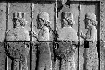 Bas-relief of Persian & Mede Soldiers