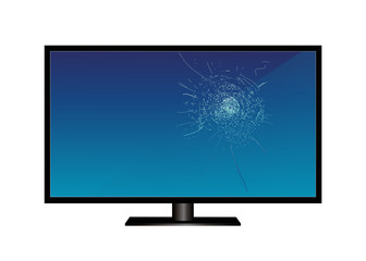 LCD tv monitor, with broken screen