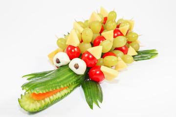 Cucumber crocodile - Crocodile carved out of a cucumber