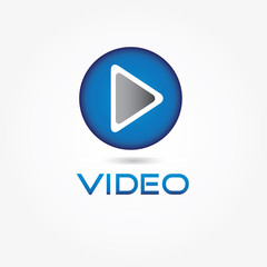 Play video button vector design template