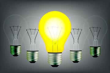 bulb lighting vector image