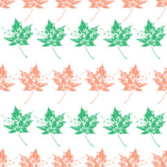 seamless background with leaves, leaf endless pattern