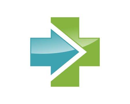 arrow cross logo