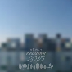 Abstract autumn blurred background, urban, vector illustration.
