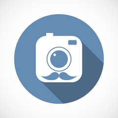 Hipster camera Icon, flat
