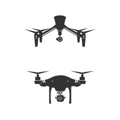 Drone Logo Design Icon Technology Camera Vector Illustration