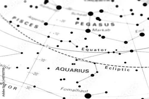 Aquarius star map zodiac  Star sign Aquarius on an astronomy star