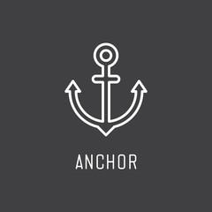 Anchor icon. Vector illustration