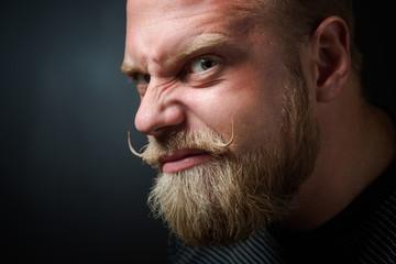 Frightening bearded man
