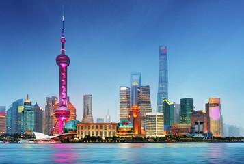 Fotobehang Aziatische Plekken Shangahi skyline, China.
