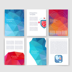Templates. Design Set of Web, Mail, Brochures. Mobile