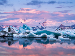 Poster Glaciers Jökulsárlón, Iceland.