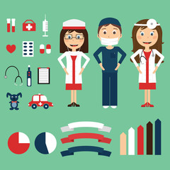 Vector medical infographics set