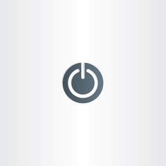 start vector icon power symbol button