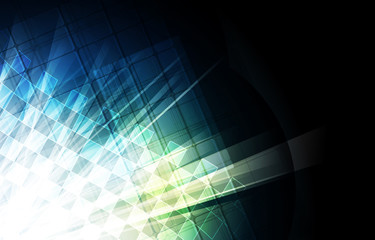 Abstract tech background. Futuristic technology interface. Vecto