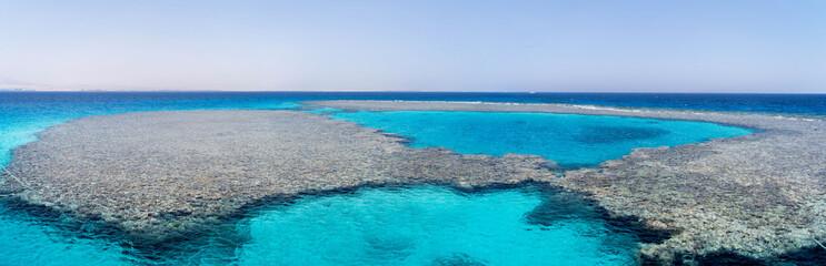 wunderschönes Panorama eines Korallenriffs in Ägypten
