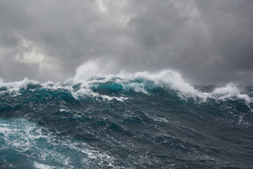 sea wave during storm in atlantic ocean