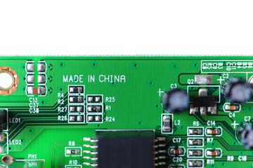 Elektronisches Bauteil mit der Aufschrift Made in China