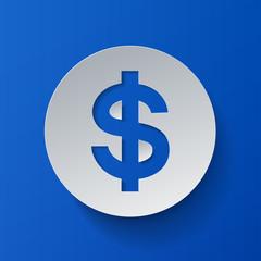 Dollar Symbol Cut from Paper