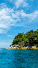 Tachai Island in Andaman with Crystal Clear Sea in Sunny Day