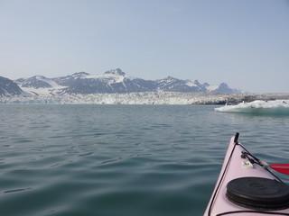 Kayak en terre polaire