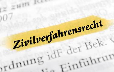 Zivilverfahrensrecht - gelb markiert