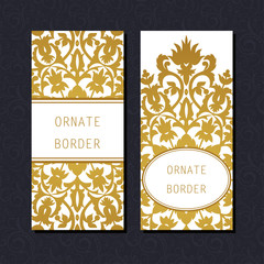 Ornate element for design, place for text. Ornamental  illustration for wedding invitations, greeting cards.