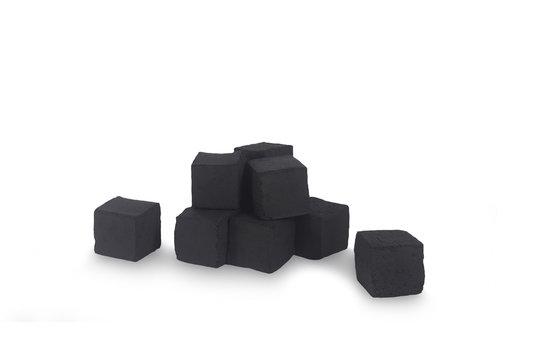 Hookah coal isolated on white background