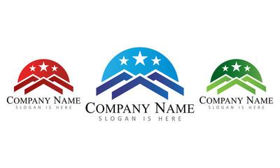 Real Estate Group Line Art - Logo Template