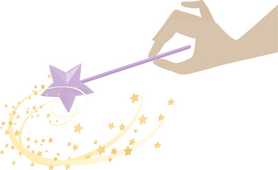 Magic Wand with Fairy Dust Stars