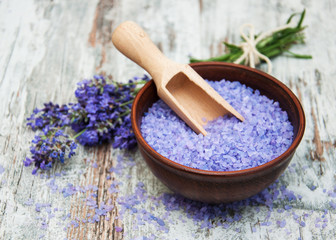Lavender and salt